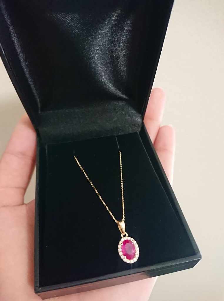 The Money Marketer, The Money Marketer Blog, Ruba Khan, Ruba Khan Blog, Ruby necklace, ruby and diamond necklace, first state auctions, 1.05 carat ruby